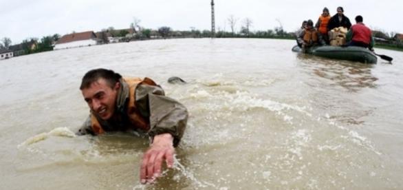 Imaginea dezastrului din vestul țării. Foto: Redeșteptarea