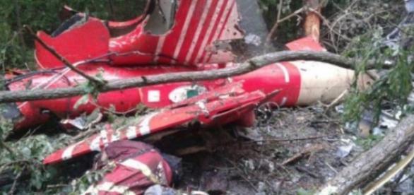 Așa arăta epava elicopterului SMURD prăbușit