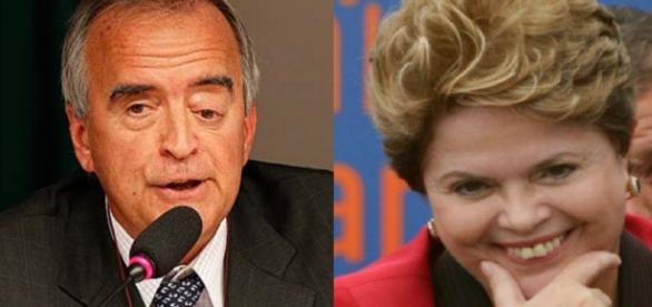 Cerveró e Dilma Rousseff - Foto/Montagem