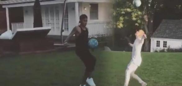 Vídeo de Neymar e Justin Bieber agita a internet