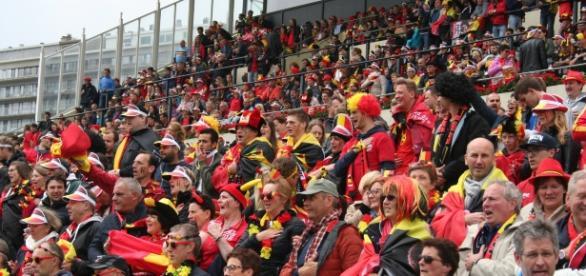 Les supporters étaient bien présents au Wellington d'Ostende (Photo [c] Robert Genicot)