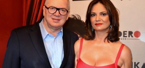 Lírio Parisotto e Luiza Brunet ficaram juntos por quase quatro anos