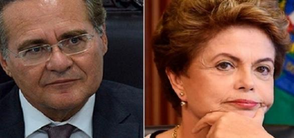 Renan Calheiros esteve em reunião com Dilma Rousseff