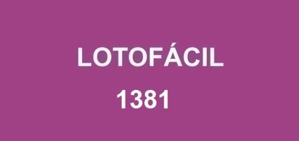 Sorteio milionário no concurso da Lotofácil 1381