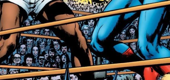 La pelea entre Muhammed Ali vs Super Man