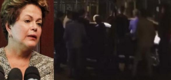Dilma é vaiada ao sair de restaurante