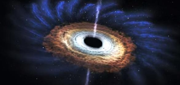 Buco nero in una ricostruzione grafica della NASA