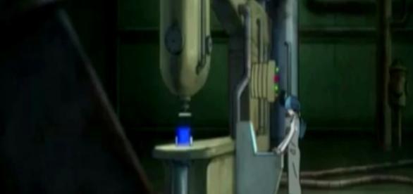 Bulma se encuentra trabajando en un liquido extraño
