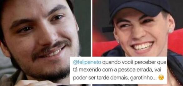 Felipe Neto teria sido ameaçado por Biel