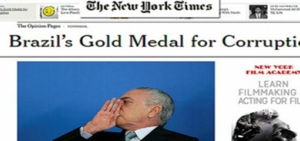 The New York Times diz que imunidade é a causa da corrupção
