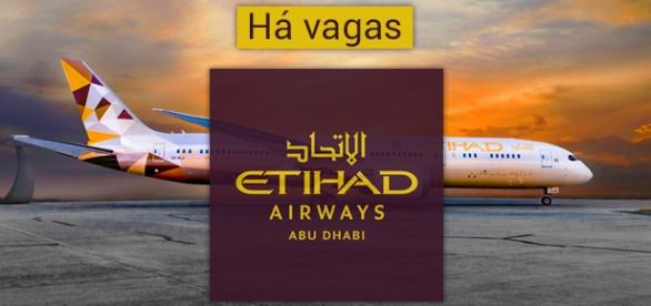 Vagas para trabalhar na Etihad Airways. Foto: Reprodução Frankfurtairport.