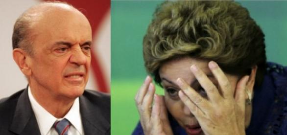 José Serra critica o PT e Dilma em programa de TV