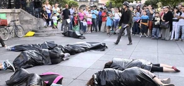 Una protesta en contra de la violencia en México