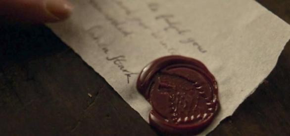 Usuários do Reddit desvendaram a carta de Sansa (Foto: HBO/Youtube)