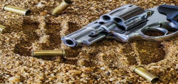 Arma de fuego y munición. Public Domain