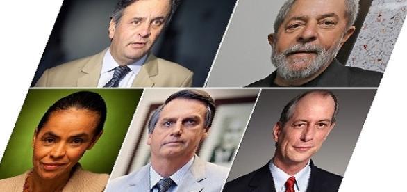Candidatos com pré-disposição para a eleição presidencial
