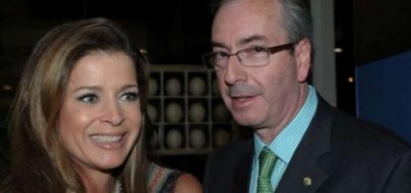 Cláudia Cruz e Eduardo Cunha: casal réu da Lava Jato