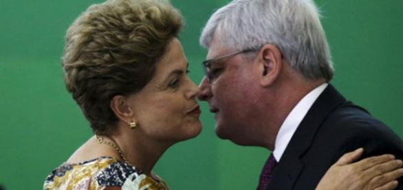 Dilma Rousseff e Rodrigo Janot - Imagem/Google