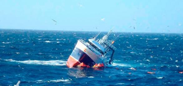 En Abril se hundió un barco procedente de Eritrea