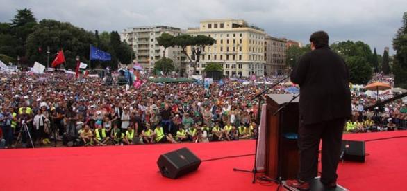 Il leader del PdF, Mario Adinolfi