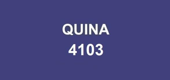 Sorteio do prêmio de R$ 500 mil na Quina 4103.