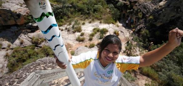 A tocha olímpica chega em Palmas