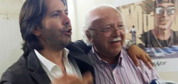 Corrado Figura e Enzo Adamo al comitato di via Spaventa