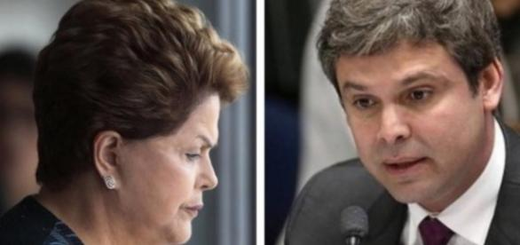 Dilma e Lindbergh Farias - Foto/Montagem