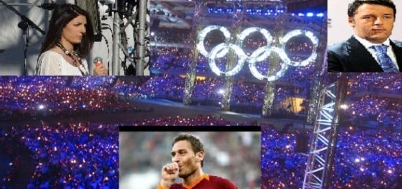 Il triangolo di proposte sulle olimpiadi del 2024 a Roma.