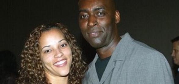 Michael com sua esposa April, assassinada em 2014