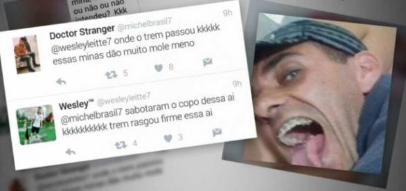 Rafael Duarte, que fez a selfie, aparece em um dos vídeos maltratando a vítima