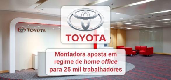 Toyota anuncia que 25 mil trabalhadores da matriz da empresa trabalharão de casa - Foto: Reprodução Takenaka