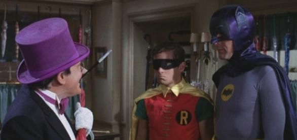 Adam West as Batman, pictured with Robin and Joker (via flickr.com/jack_hargreaves_shed)