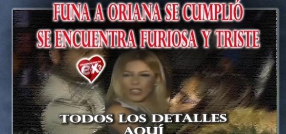 Funa a Oriana en Chile, no hizo Show