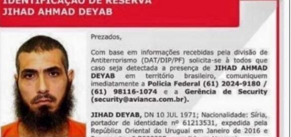 Terrorista perigoso pode estar em solo brasileiro