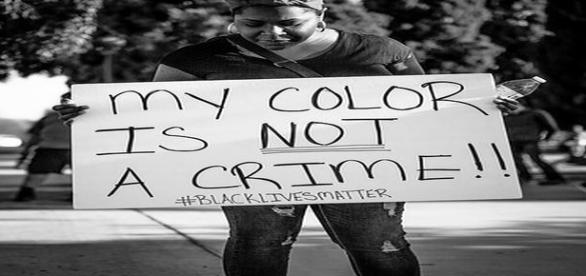 Black Lives Matter Protester with sign