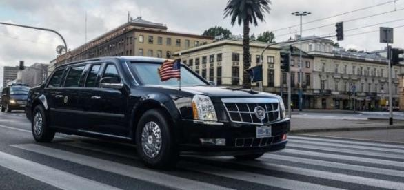 'La Bestia' en una de las visitas oficiales de Barack Obama