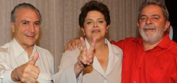 Michel, Dilma e Lula (Foto: Ricardo Stuckert/Presidência da República)