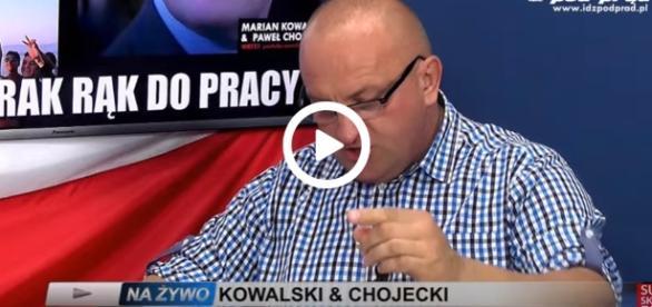 Marian Kowalski, lider ugrupowania Narodowcy RP, zagorzały przeciwnik KOD
