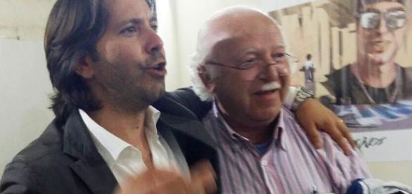 Corrado Figura accanto al dottor Enzo Adamo, leader della battaglia in difesa del Trigona