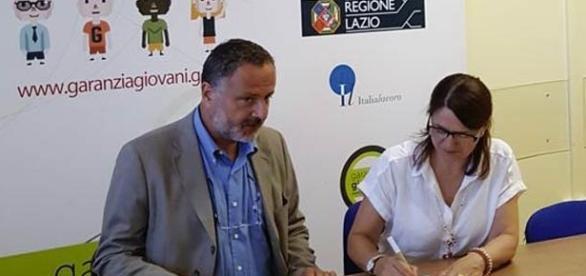 Gli Assessori della Regione Lazio Hausmann e Valente