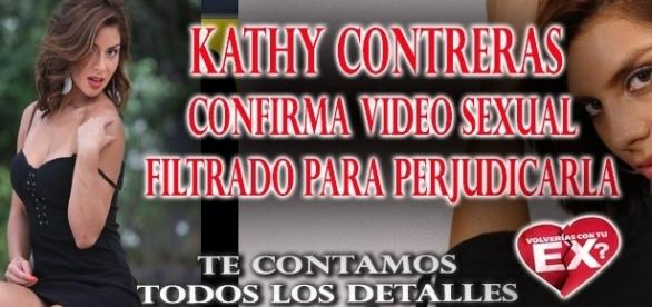 Kathy Contreras confirma video sexual