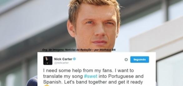 Nick usa o Twitter para pedir ajuda das fãs para as traduções da música