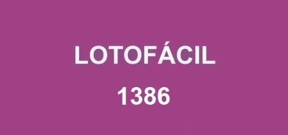 Resultado da Lotofácil 1386 divulgado nesta segunda-feira