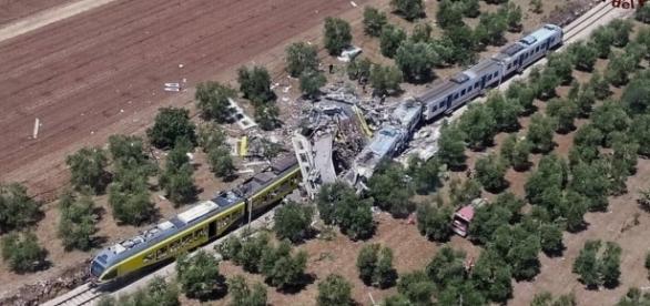 Vista aérea de la zona del desastre.