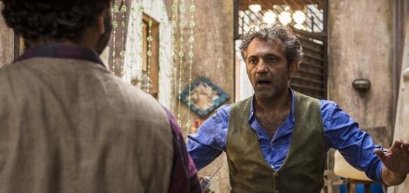 Cícero resolve matar Santo (Divulgação/Globo)