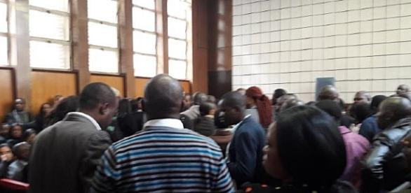Court jammed to standing room only / Screencap via #ThisFlag Twitter @simonallison