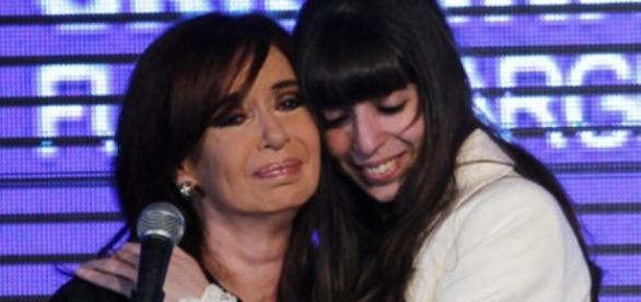 Cristina y su hija Florencia Kirchner