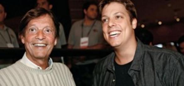 Fábio Porchat e seu pai - Imagem/Google
