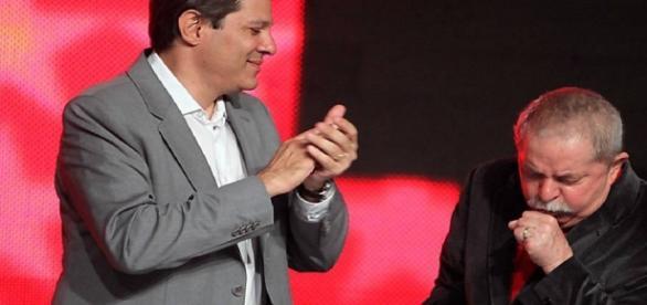 Fernando Haddad e Lula em evento - Foto/Google